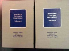 insurance company operations 2 volume set books