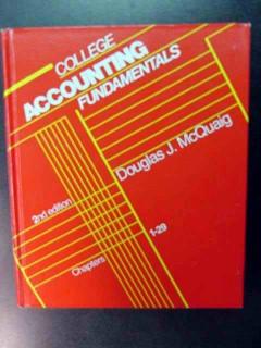 college accounting fundamentals douglas mcquaig book