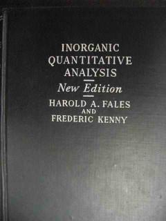 inorganic quantitative analysis fales kenny vintage book