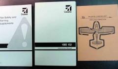 cessna pilot manuals and checklist model 152 3 books
