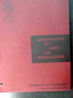 aeronautics act and air regulations 1964 dot book