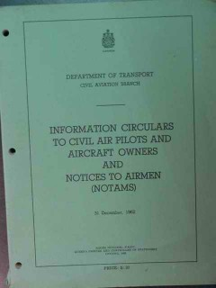 information circulars to civil air pilots owners and airmen cap book