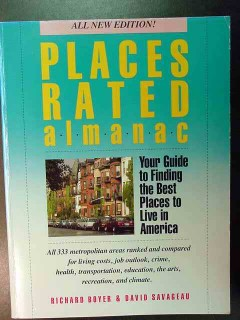 places rated almanac best places to live by royer and savageau book