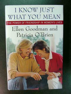i know just what you mean ellen goodman friendship womans lives book