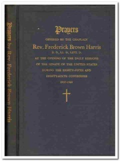 prayers offered by rev frederick brown harris 85 congress signed book