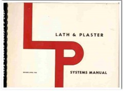 lath and plaster systems manuals construction and design 3 books