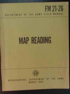 map reading 1965 fm 21 26 us army manual vintage book