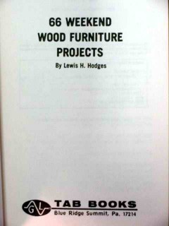 66 weekend wood furniture projects lewis hodges book