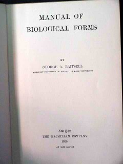 manual of biological forms george baitsell biology vintage book