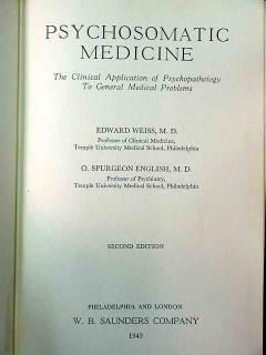 psychosomatic medicine edward weiss vintage medical book