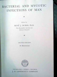 bacterial mycotic infections of man rene dubos vintage medical book