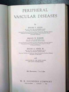peripheral vascular diseases edgar allen vintage medical book