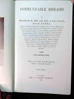 communicable diseases by franklin top vintage medical book