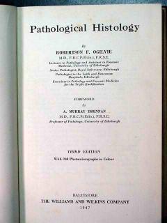 pathological histology robertson ogilvie vintage medical book