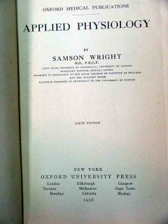 applied physiology by samson wright vintage medical book