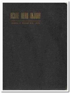 acute head injury edited by michael debakey vintage medical book