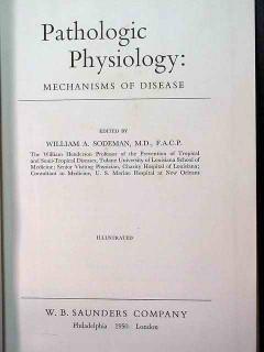 pathologic physiology by william sodeman vintage medical book