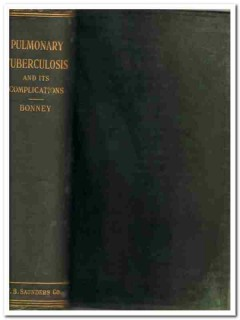 pulmonary tuberculosis complications by bonney vintage medical book