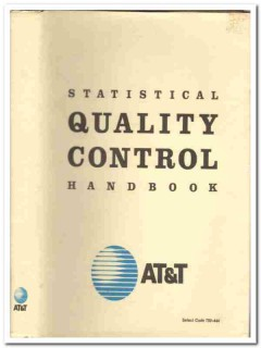 att statistical quality western electric vintage book
