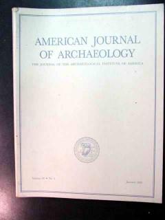 american journal of archaeology vol 96 jan 1992 no 1 magazine
