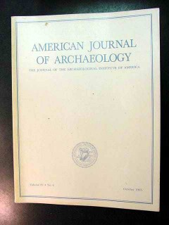 american journal of archaeology vol 99 oct 1995 no 4 magazine