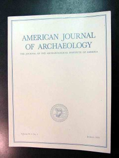 american journal of archaeology vol 99 jan 1995 no 1 magazine