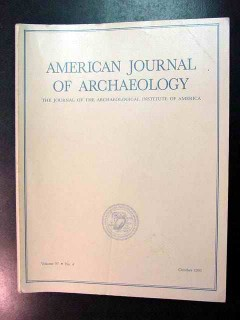 american journal of archaeology vol 97 oct 1993 no 4 magazine