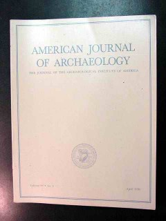 american journal of archaeology vol 99 april 1995 no 2 magazine