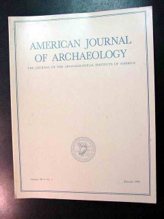 american journal of archaeology vol 98 jan 1994 no 1 magazine