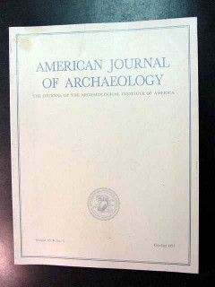 american journal of archaeology vol 95 oct 1991 no 4 magazine