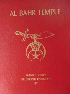 al bahr temple glenn c corey 1977 shriners pictorial historial book