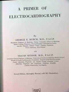primer of electrocardiography burch windsor vintage medical book