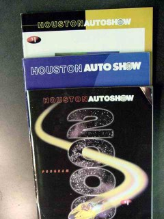 houston auto show programs 1997 1998 2000 three program books