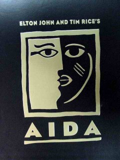 aida elton john tim rice broadway play cast program book