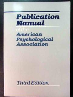 publication manual american psychological association book