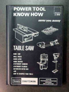 power tool know how sears craftsman table saw book