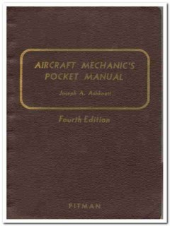 aircraft mechanics pocket manual joseph ashkouti vintage book