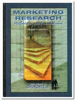 marketing research gilbert churchill methodological book