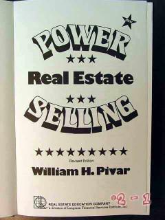 power selling real estate william pivar book
