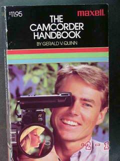 camcorder handbook by gerald quinn video camera book