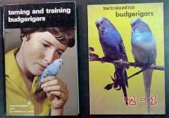 budgerigars taming raising training budgie parakeet bird 2 books