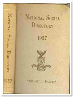 national social directory list of society 1957 book