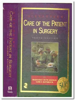 alexanders care patient in surgery meeker rothrock medical book