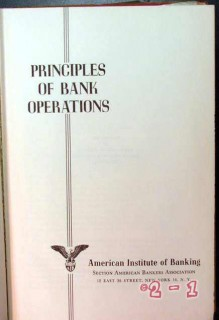 principles of bank operations vintage charts forms book