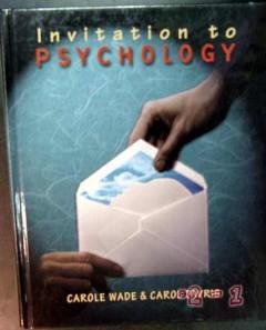 invitation to psychology carole wade carol tavris book