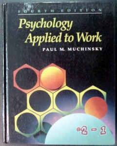 psychology applied to work paul muchinsky personnel book