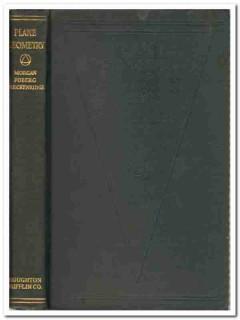 plane geometry foberg morgan and breckenridge vintage math book
