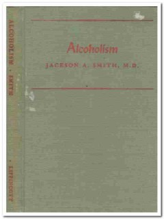 alcoholism jackson smith signed aa vintage medical book