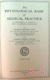 physiological basis of medical practice vintage medical book
