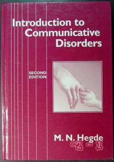 introduction to communicative disorders hegde medical book